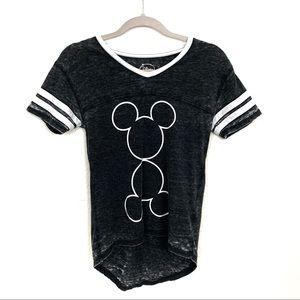 Disney Mickey Mouse Baseball Short Sleeve T Shirt